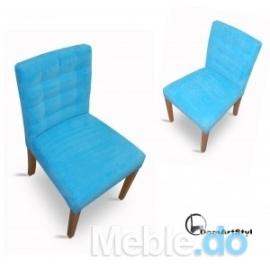 Nowoczesne Krzesło Wąskie Niskie Pikowane Kwadraty