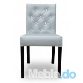 Nowoczesne Krzesło Wąskie Niskie Pikowane Kamienie