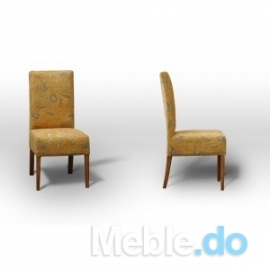 Styl Glamour Krzesło Proste Standard