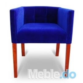 Doskonała Kawiarnia Fotel Wąski 65 Pikowane Kwadraty