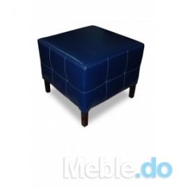 Niebieska Pufa Pełna 50x50cm