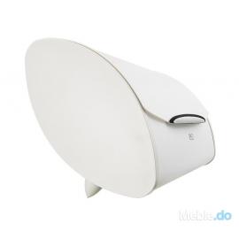 Legnoart - Chlebak z silikonową pokrywą, biały, BB-1W