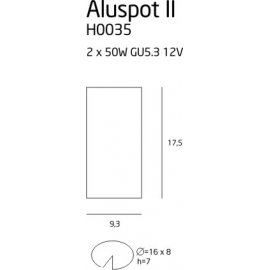Aluspot II oprawa podtynkowa