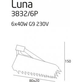 Luna lampa wisząca oblong