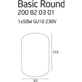 Basic Round Black oprawa...