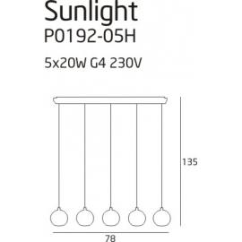 Sunlight 5 lampa wisząca