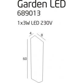 Garden led lampa zewnętrzna
