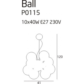 Ball lampa wisząca duża