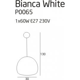 Bianca lampa wisząca white