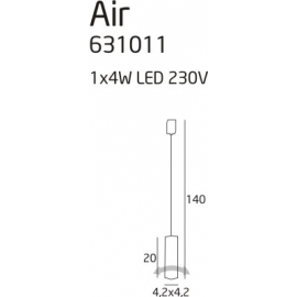 Lampa wisząca obrotowa Air 1