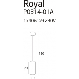 Royal lampa wisząca mała
