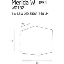 Merida IP54 kinkiet