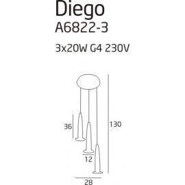 Diego 3 lampa wisząca round