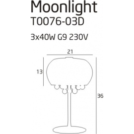 Moonlight lampa biurkowa grey