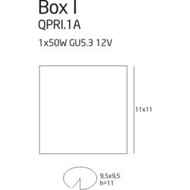 Box 1 oprawa halogenowa