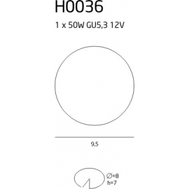 H0036 oprawa halogenowa