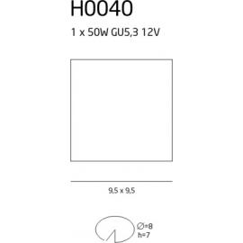 H0040 oprawa halogenowa