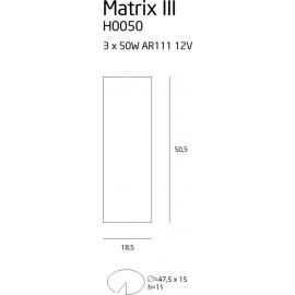Matrix III oprawa halogenowa