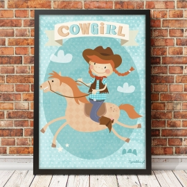 Plakat Cowgirl