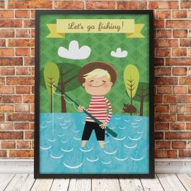Plakat Let's go fishing!