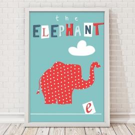 Plakat The elephant