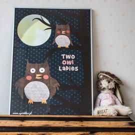 Plakat Two owl ladies
