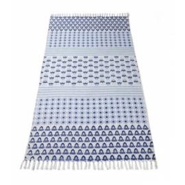 Dywan bawełniany Niebieski
