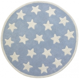 Dywan okrągły Niebieski