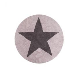 Dywan bawełniany dwustronny Star Pink