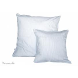 Poduszka biało-błękitna 35x35