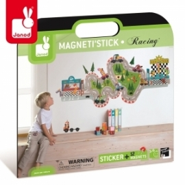 Naklejka ścienna XL 12 magnesów Wyścig Magneti'Stick