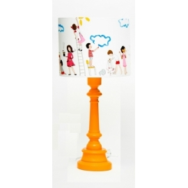 Lampa Dziecięcy teatr z okrągłą pomarańczową nogą