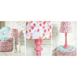 Lampa Baloniki z okrągłą różową nogą