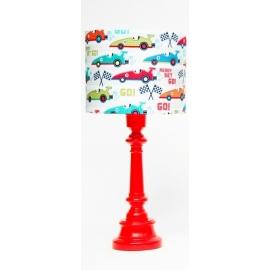 Lampa Wyścigówki z okrągłą czerwoną nogą