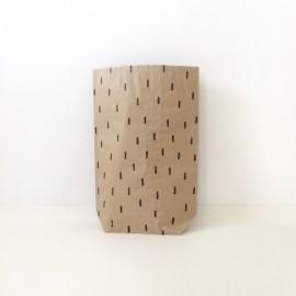 Worek papierowy Szary Deszcz średni 70cm