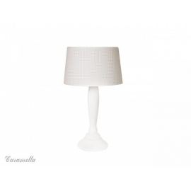 Lampka stojąca beżowa w pepitkę
