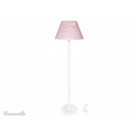 Lampa stojąca pokojowa różowa z kokardą
