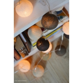 Cotton Ball Lights Taupe
