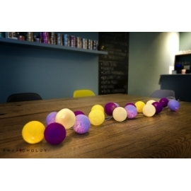 Cotton Ball Lights Crocuses