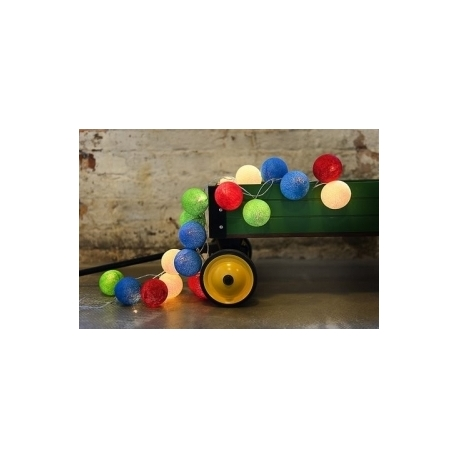 Cotton Ball Lights Colorful