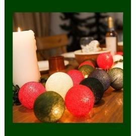 Cotton Ball Lights Christmas time