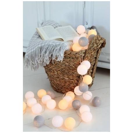Cotton Ball Lights by Green Canoe