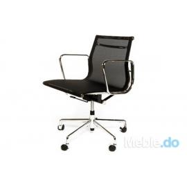 Fotel biurowy CH inspirowany EA117 siateczka, chrom