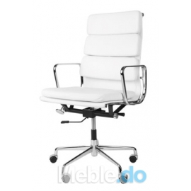 Fotel biurowy CH inspirowany EA219 skóra chrom