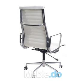Fotel biurowy CH inspirowany EA119 skóra chrom