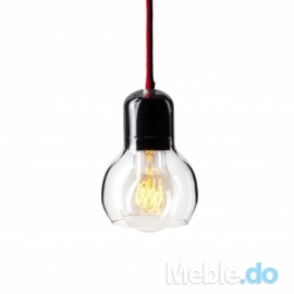 LAMPA GLASS SHELL BLACK