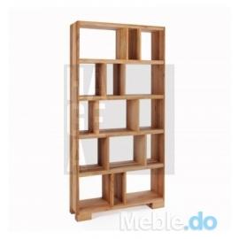 Design zaklęty w naturalnym drewnie olchowym regał 1.2