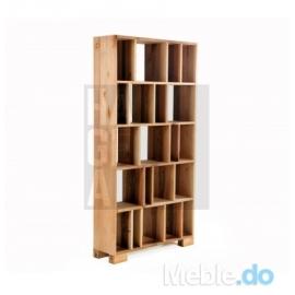 Designerski regał do loftu z litego drewna olchowego 1.1