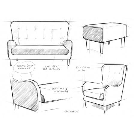 COZYBOY sofa 3 osobowa tapicerowana