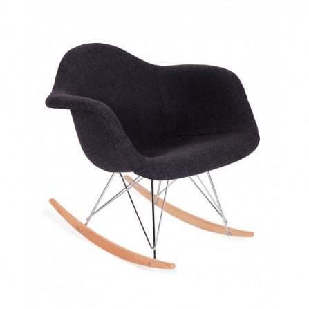 Fotel bujany PLUSH grafitowy - podstawa bukowa